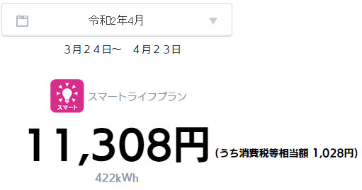 オール電化 電気代 太陽光発電 売電金額 2020年 4月